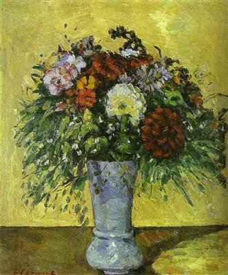 Fleurs Dans Un Vase Bleu Paul Cezanne Tableaux Et Dessins