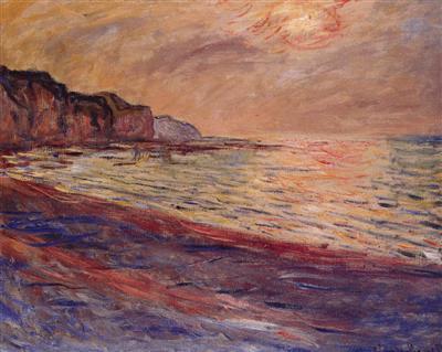 La plage de Pourville, par Monet