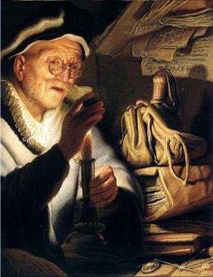 Parabole de l'homme riche - Rembrandt - Tableaux et dessins