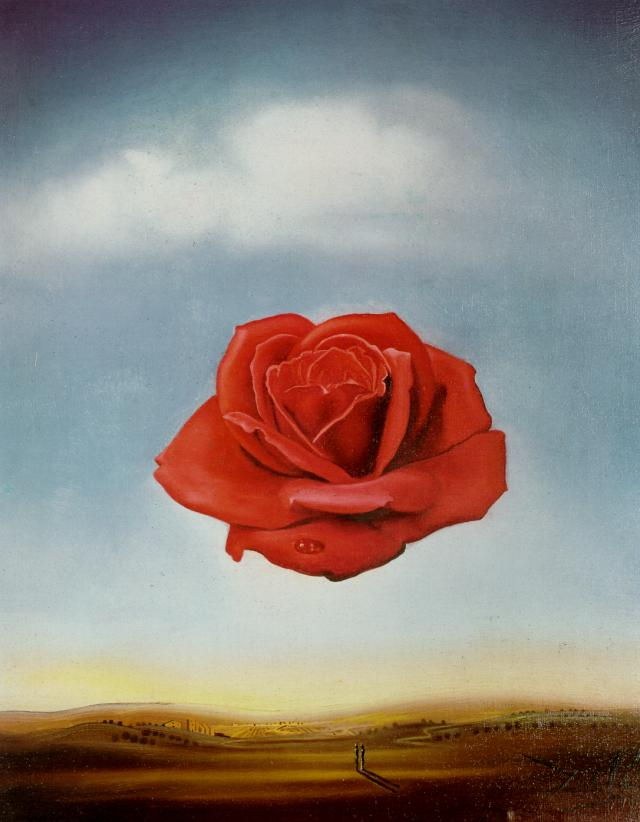 Favori Rose Meditative - Salvador Dali - Tableaux et dessins SR88