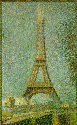 La Tour Eiffel Georges Seurat Tableaux Et Dessins