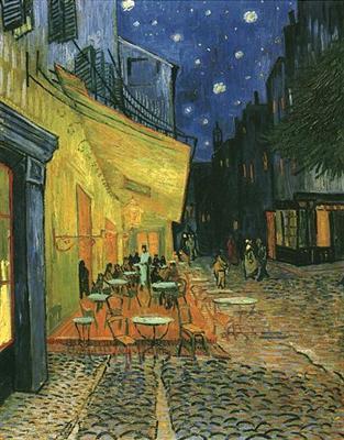 Une terrasse à Arles par Van Gogh
