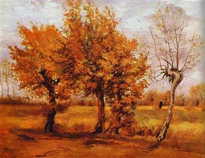 Paysage D Automne Vincent Van Gogh Tableaux Et Dessins